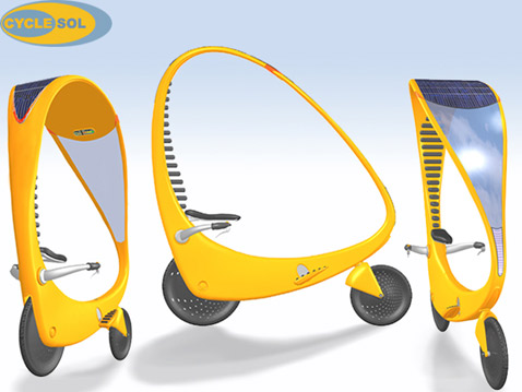 solar bicycle велосипед на солнечных батареях