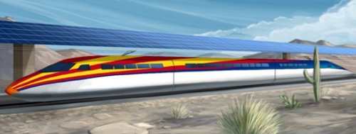 Solar powered train